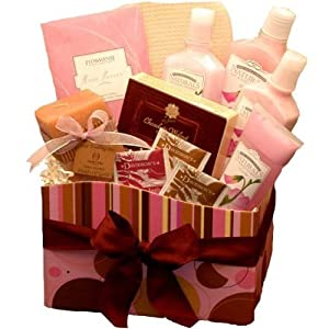 A Day at The Spa Care Package - Bath and Body Gift Basket - Spa Set from Organic Stores