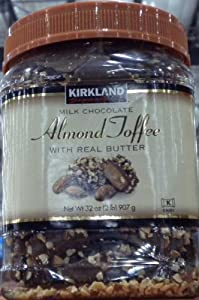 Kirkland Milk Chocolate Almond Toffee Butter Roca Candy 2 LB x 2 (Pack of 2)