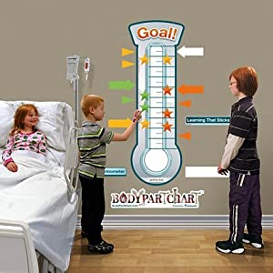 Amazon.com: AWW 0086-00597-03D Goal Thermometer Large Sticky Chart by