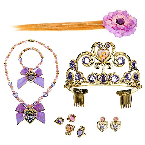 Disney Princess Rapunzel Costume Accessory Set for Girls with Storage Case