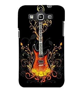 printtech Cool Guitar Pattern Design Fire Back Case Cover for Samsung Galaxy Quattro i8552::Samsung Galaxy Quattro Win i8552