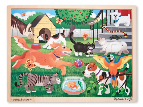 Melissa & Doug Pets at Play Jigsaw Puzzle (24-Piece)