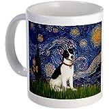 Starry Night and Rat Terrier Mug Mug by CafePress