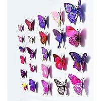 12 Pcs 3D Butterfly Purple Stickers M…