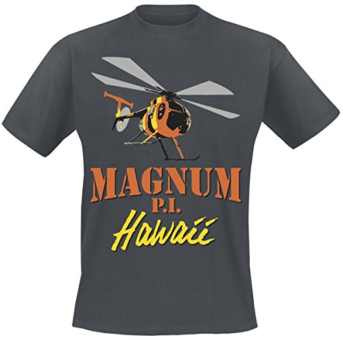 Officially Licensed Merchandise Magnum PI - Flying Solo T-Shirt (D.Grey), Large