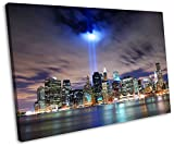New York City Twin Tower Tribute Framed Canvas Art Print 30 x 20 inch