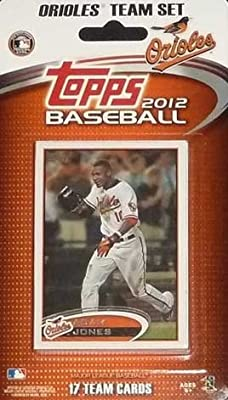 2012 Topps Baltimore Orioles Factory Sealed Special Edition 17 Card Team Set