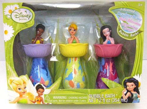 Attrayant Disney Faries Tinkerbell Pixie Mini Collectible Bubble Bath Set Decanters  Tub Toys