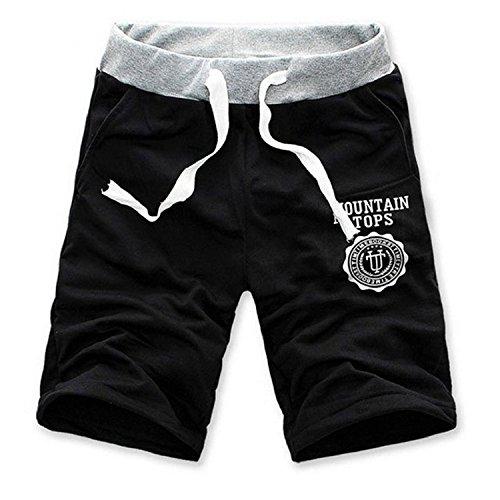Minetom Pantaloni da Jogging da Uomo sportivi Casual Palestra Sport Hip-Hop Sarouel danza Pantaloni in esecuzione ( Nero EU M )