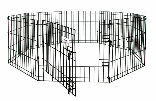 Petmate 42-Inch by 24-Inch 8 Panels Exercise Pen with Step Through Door