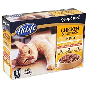 HiLife Tempt Me! Cat Food Chicken Collection in Jelly '8 x 85g Pouches' (Pack of 4, 32 Pouches in Total)