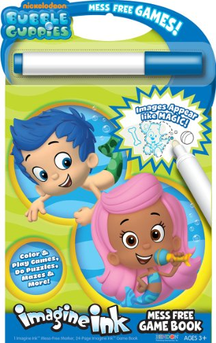 Bendon Bubble Guppies Imagine Ink Mess-Free Game Book