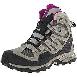 Salomon Women's Conquest GTX Boot,Titanium/Dark Titanium/Anemone Purple