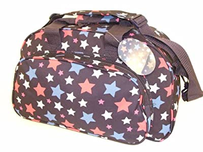 "17"" Ladies Girls Navy Blue Star Hand Luggage Cabin Flight overnight weekend Bag Sports Gym Holdall by LaSoDa"