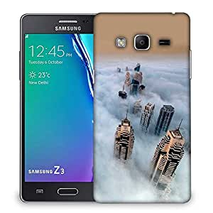 Snoogg Clouds And Building Designer Protective Phone Back Case Cover For Samsung Galaxy Tizen T3