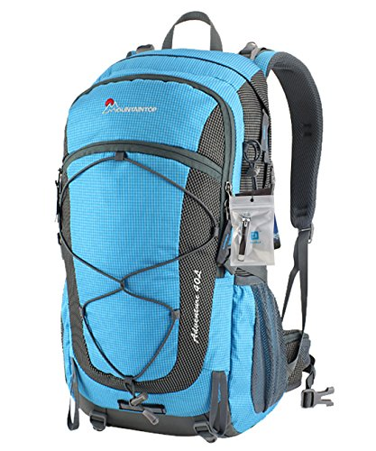 Duhud(TM) Mountaintop® Outdoor Hiking Climbing Camping Mountaineering Bag Internal Frame Pack Hiking Daypack 40L (Sky Blue)