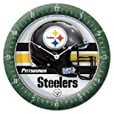 Roundclock Pittsburgh Steelers 10 Inch Round Game Time Clock Nfl Fan National Football League American Game Decoration Accessories