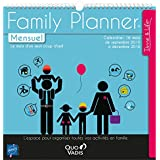 Quo Vadis - Time & Life - Calendrier Family Planner Mensuel - Agenda Scolaire 30x30 cm - Année 2015-2016 - Lot de 5