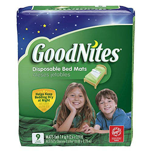 GoodNites Disposable Bed Mats, 9 Count - 1