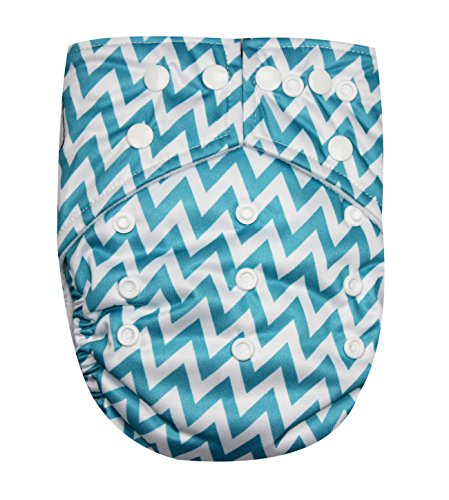 See Diapers Pocket Baby Cloth Diaper 2 Microfiber Inserts Adjustable (T Chevron) - 1