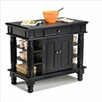 Big Sale Best Cheap Deals Home Styles 5092-94 Americana Kitchen Island, Black Finish