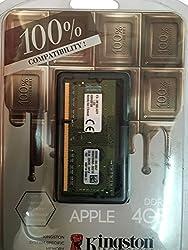 Kingston Mac Memory 4GB DDR3L-1600(PC3-12800) SO-DIMM 1.35V (KTA-MB1600L/4GFR)