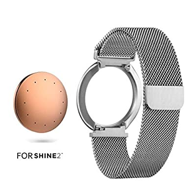 Shine 2 Replacement Band, For Misfit Wearables Shine 2 Fitness Tracker & Sleep Monitor, Biaoge? Stainless Steel Black Milanese Loop Bracelet Strap for SHINE 2