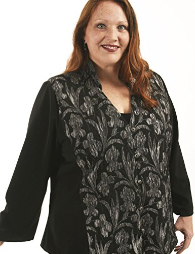 Peggy Lutz Plus Women's Mandarin Jacket купить дешево онлайн