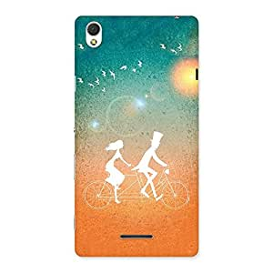 Cute Cycle Couple Dream Multicolor Back Case Cover for Sony Xperia T3