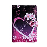 Juju Village Advent Vega Tegra Note 7 Tablet Universal PU Leather Tablet Case - Large Heart