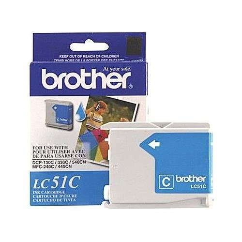 Brother LC51C OEM Ink - DCP 130 330C 350C FAX 1860 1960C 2480C 2580C MFC 230C 240C 440CN 465CN 665CW 685CW 845CW 885CW 3360C 5460CN 5860CN Cyan Ink (400 Yield) - Brother LC51C (Brother Mfc 665cw Ink compare prices)