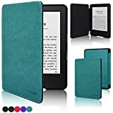 "Kindle, 6"" Glare-Free Touchscreen Display (7th Generation) Case, ACcase Ultra Slim Folio Premium PU Leather Magnetic Smart Cover Case for Kindle, 6'' Glare-Free Touchscreen Display (7th generation, 2014 Version), Sky Blue"