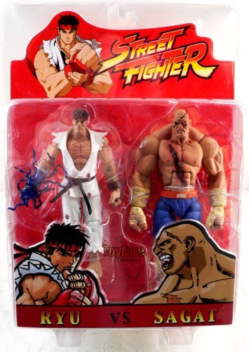 Picture of SOTA Street Fighter ToyFare Exclusive Ryu & Sagat Blood Version Action Figures 2-Pack (B001ZV6ODA) (SOTA Action Figures)