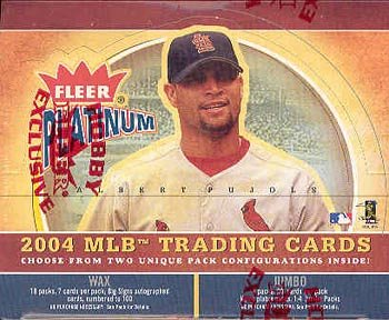 2004 Fleer Platinum Baseball Cards Hobby Box (24 packs/box)