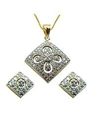 Sheetal Jewellery Silver & Golden Brass & Alloy Pendant Set For Women - B00TIGZV38