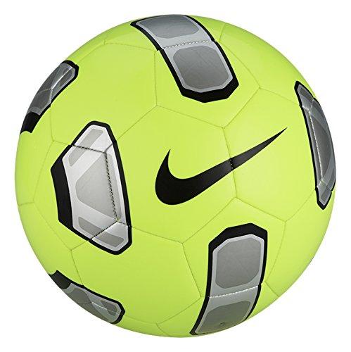 Nike Tracer Training Pallone da Calcio, Volt/Argento/Nero, 5