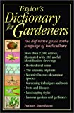 Taylor's Dictionary for Gardeners (0395876060) by Tenenbaum, Frances