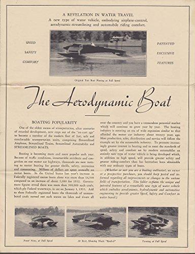 Thomas Lake Aerodynamic Pontoon Hydroplane Boat sales folder 1930s