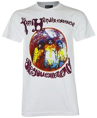 Jimi Hendrixt Woodstock Festival T-Shirt (KR043) (Medium, White)
