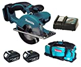 Makita 18V LXT BCS550 BCS550Z BCS550Rfe Circular Saw, 2 X BL1830 Batteries, DC18RC Charger And DK18027 Bag