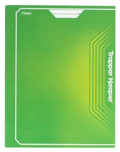 mead-trapper-keeper-2-pocket-portfolio-12-x-938-x-12-inches-green-72648-by-mead