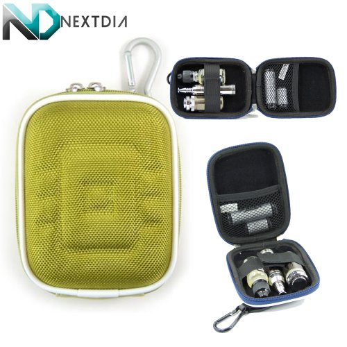 Universal Hardshell Vape Portable Carrying Case for Vapen DUO Wax and Oil Pen Vaporizer [Light Olive Green] & Karabiner Hook for Key Ring Attachment (Wax Pen Dome compare prices)