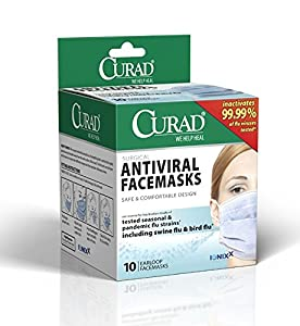 Curad Biomask Antiviral FaceMasks, 10 Count