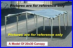 20 X 30 Canopy Tent Kit for Cars Truck Boat Swimming Pool Picnic Party Etc. (Please Read Description, Pipes Are Not Included)