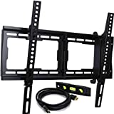 "VideoSecu Tilt TV Wall Mount Bracket for Most 23""- 65"" LCD LED Plasma TV Flat Panel Screen with VESA 200x100 to 600x400mm, Load Capacity 165lbs, 15 Degree Tilt up or down - Bonus 10 ft HDMI Cable and Magnetic Bubble Level MF608B BBM"
