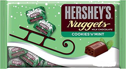 Hershey'S Holiday Milk Chocolate Cookies 'N' Mint Nuggets Bag, 10 Ounce