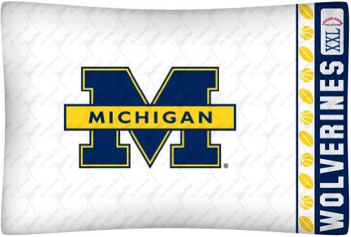 Ncaa Michigan Wolverines Micro Fiber Pillow Case Logo front-549295