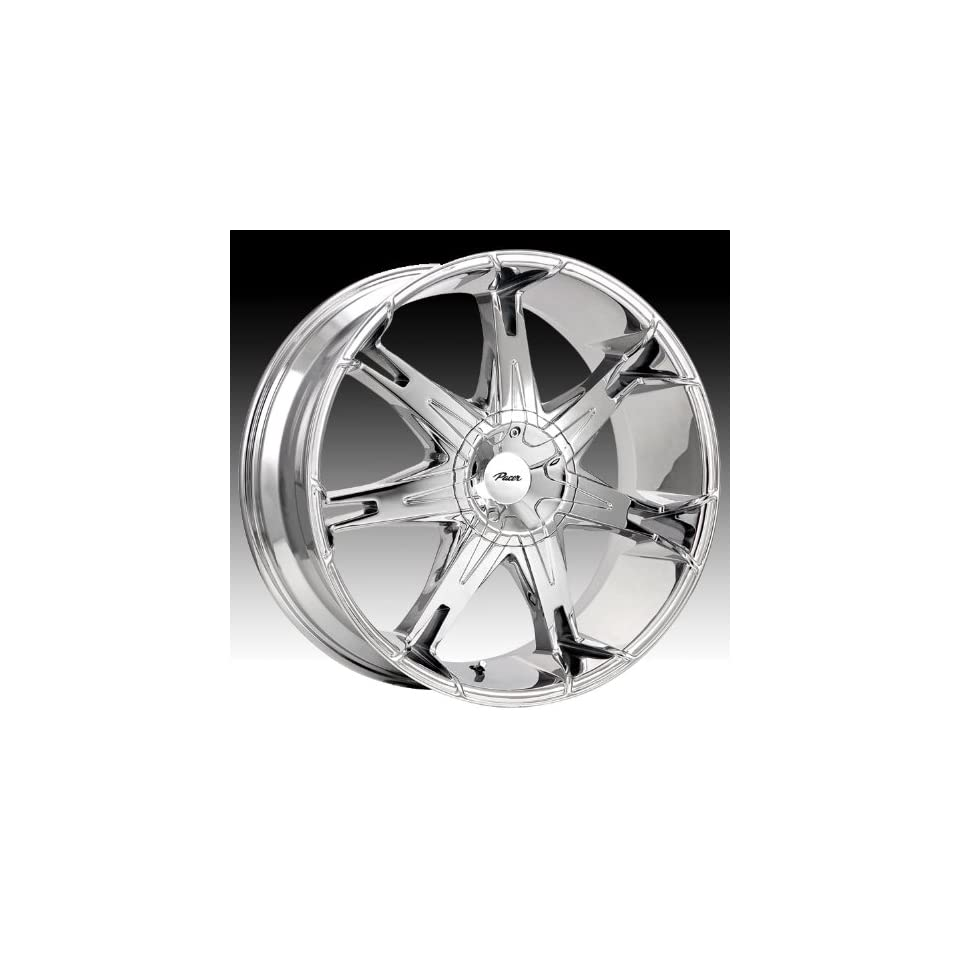 Pacer Fuzion 18x7.5 Chrome Wheel / Rim 5x4.5 & 5x5 with a 42mm Offset and a 73.00 Hub Bore. Partnumber 781C 8750642