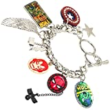 Official Marvel Avengers and Spider-Man Character Charm Bracelet