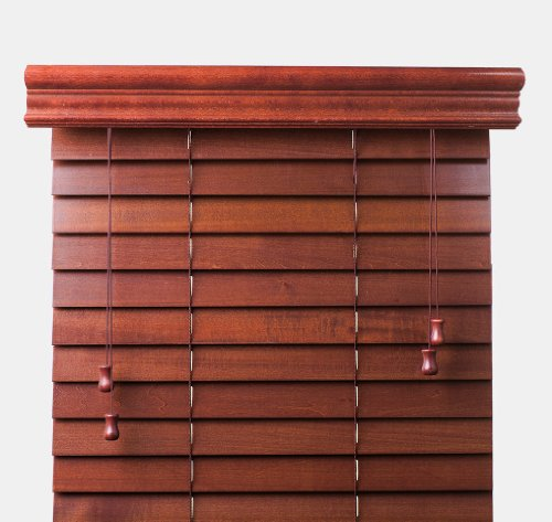 """Cherry 2"""" Customized Bass Wood Blinds,Width 25in., Free Shipping, 25 x 62"""